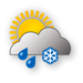 Weather Icon Wolkig, Schneeregen