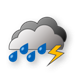 Dull, thunderstorm with heavy shower