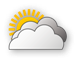 Weather Icon Stark bew�lkt