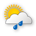 Weather Icon Wolkig, m��iger Regen